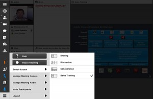 In addition to existing hosting controls (begin/end meetings, manage attendance, manage attendee roles – Host, Presenter, or Participant, etc.), hosts can now fully control meeting recordings, audio conferencing, and video.