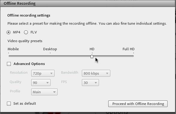 Offline MP4 Conversion