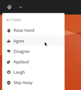 Select agree or disagree using the status options