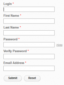 Registration Page Template