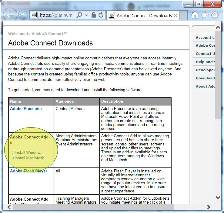 download adobe connect
