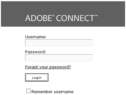 Change the Connect Log-in screen to Read Email Address | Adobe
